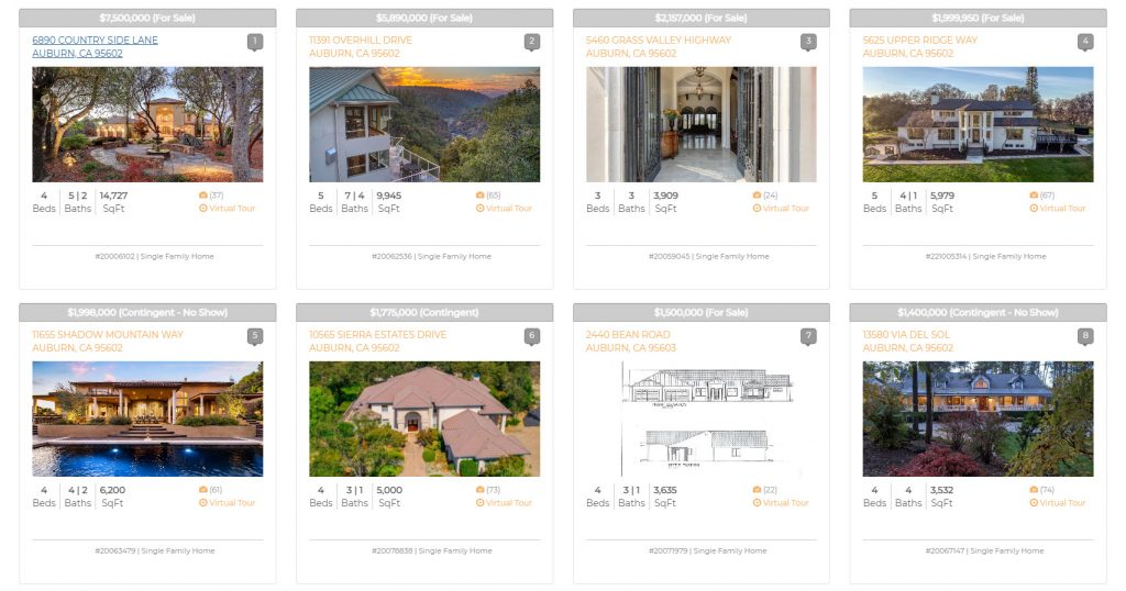 IDX Property Search Example Results